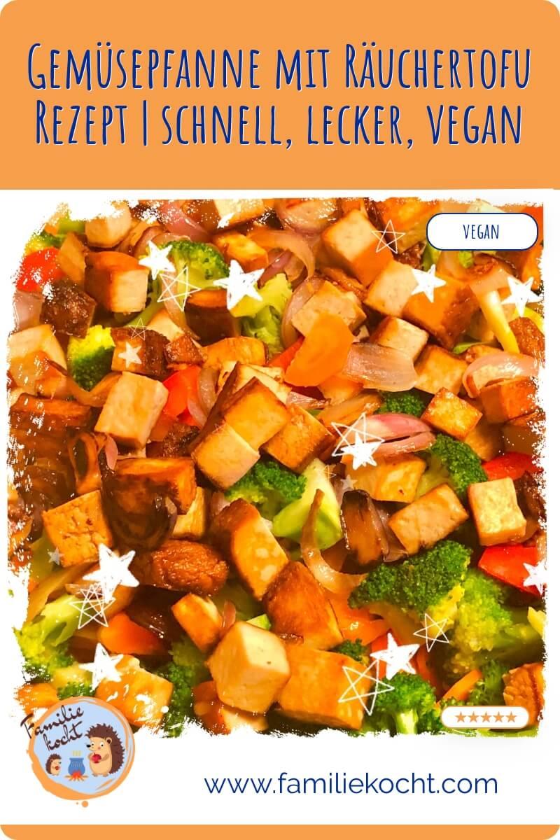 Gemüsepfanne mit Räuchertofu
