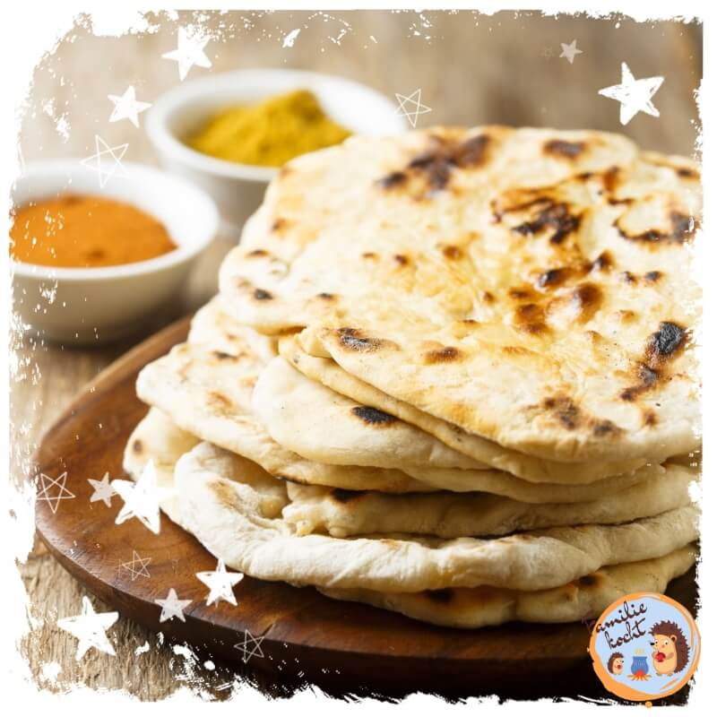 Indian naan bread without yeast ♥ fast & delicious