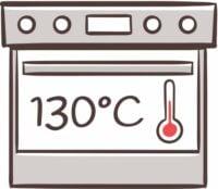 Backofen auf 130 Grad vorheizen