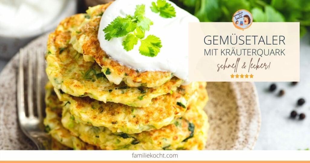 Gemüsetaler mit Kräuterquark