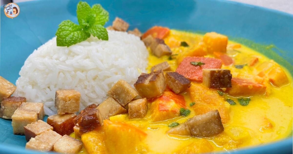 Kürbissuppe mit Tofu