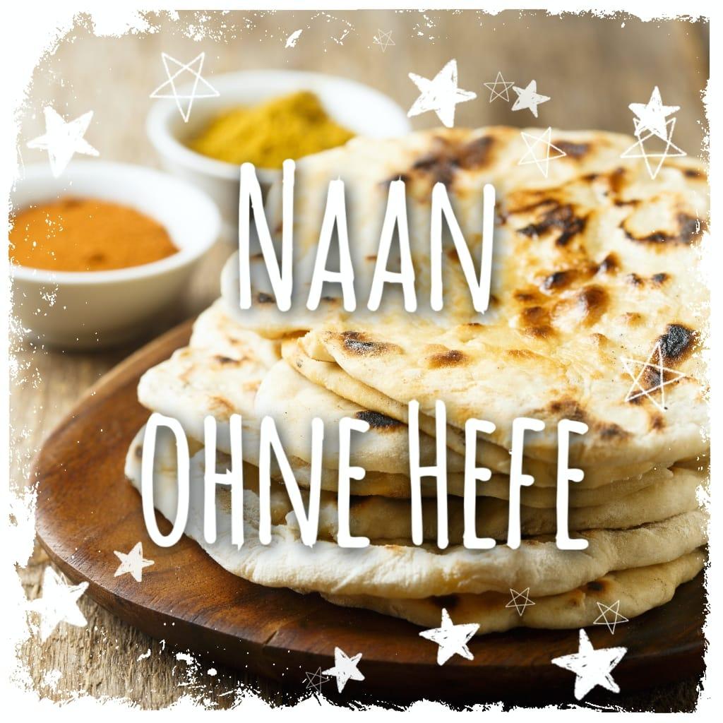 Indisches Naan Brot ohne Hefe