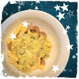 Vegane Zucchini Carbonara Rezept