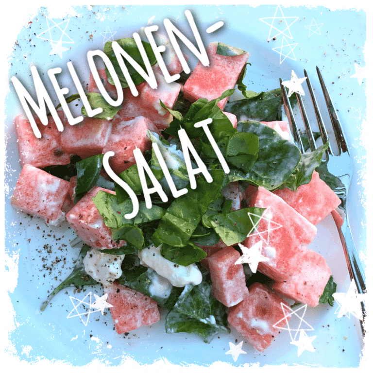 Melonensalat mit Ziegenfrischkäse