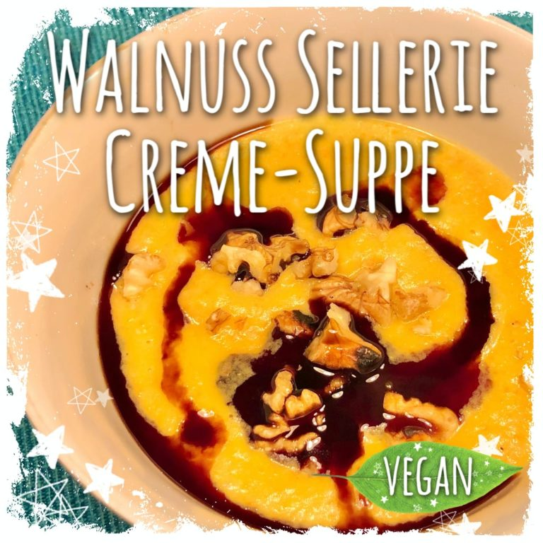 Vegane Walnuss Selleriecreme Suppe