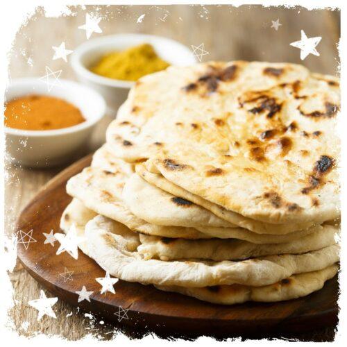 Indisches Naan Brot vegan ohne Hefe Rezept