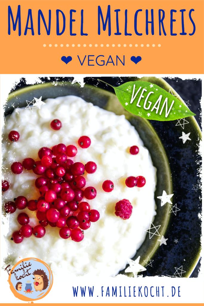 Mandel Milchreis Vegan Pin