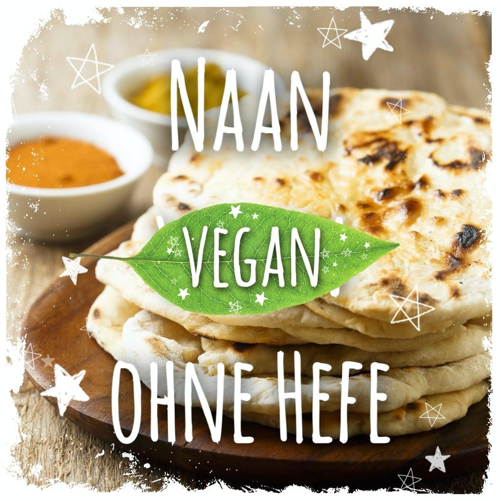 Naan vegan ohne Hefe