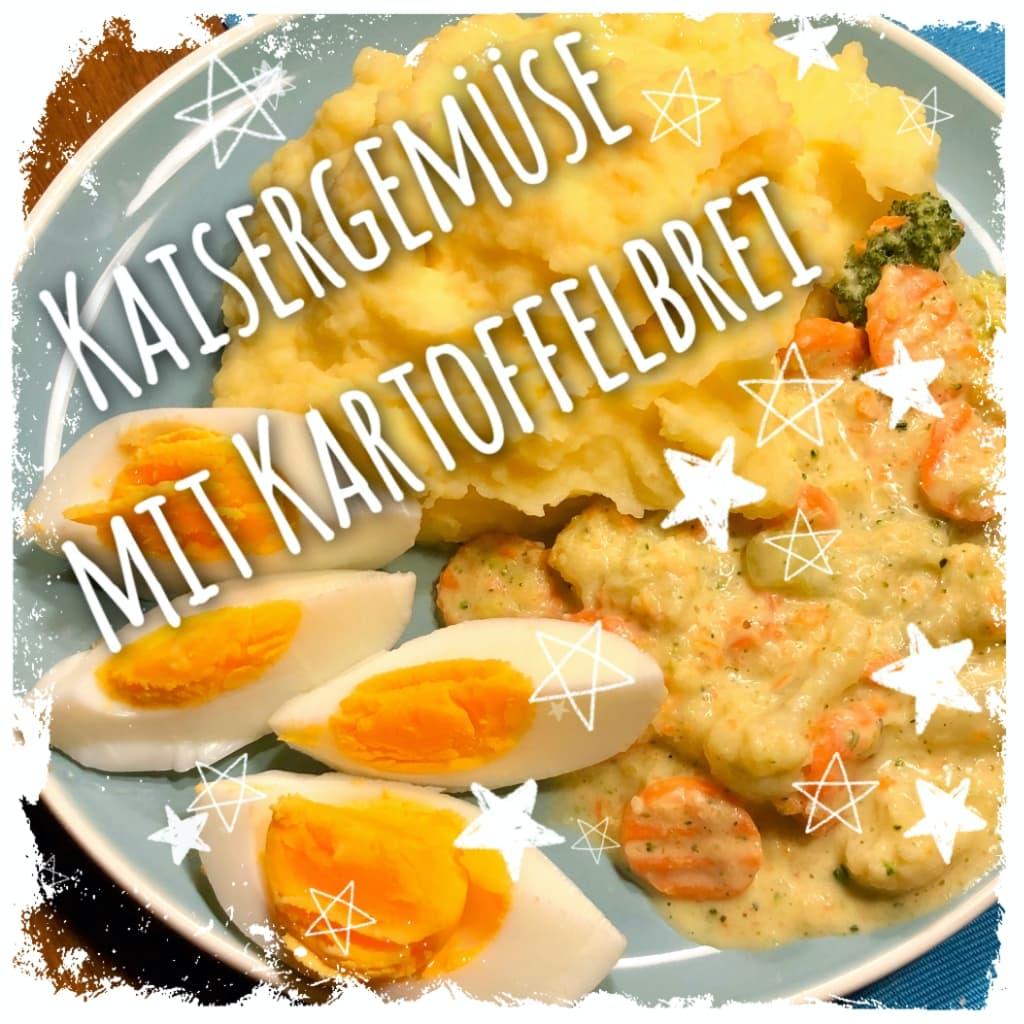 Kaisergemüse mit Kartoffelbrei und Ei