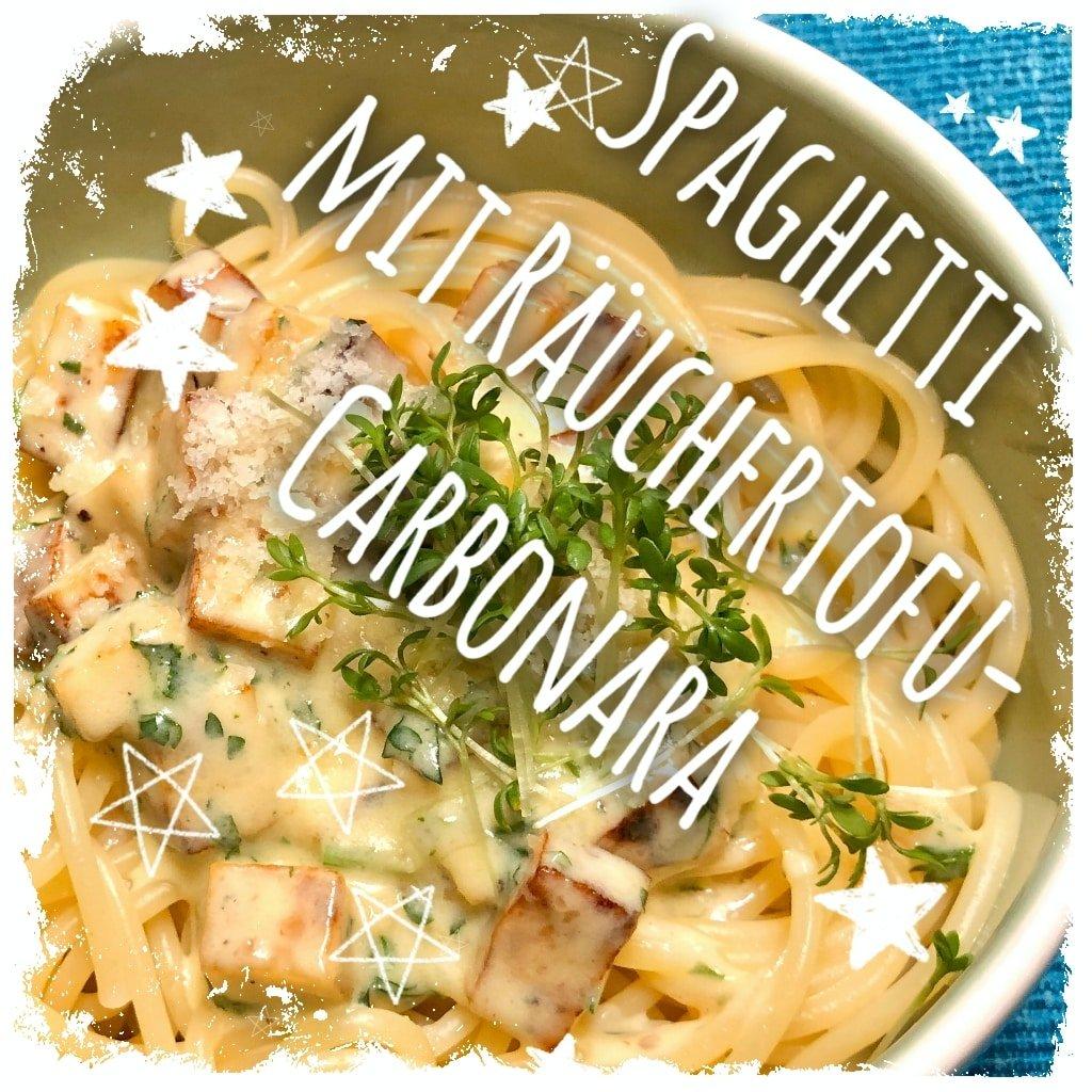 Spaghetti mit Räuchertofu-Carbonara