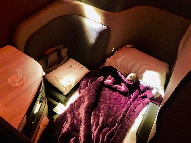 12 Mein Bett im Flugzeug