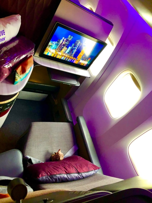 3 In der Qatar QSuite Business Class