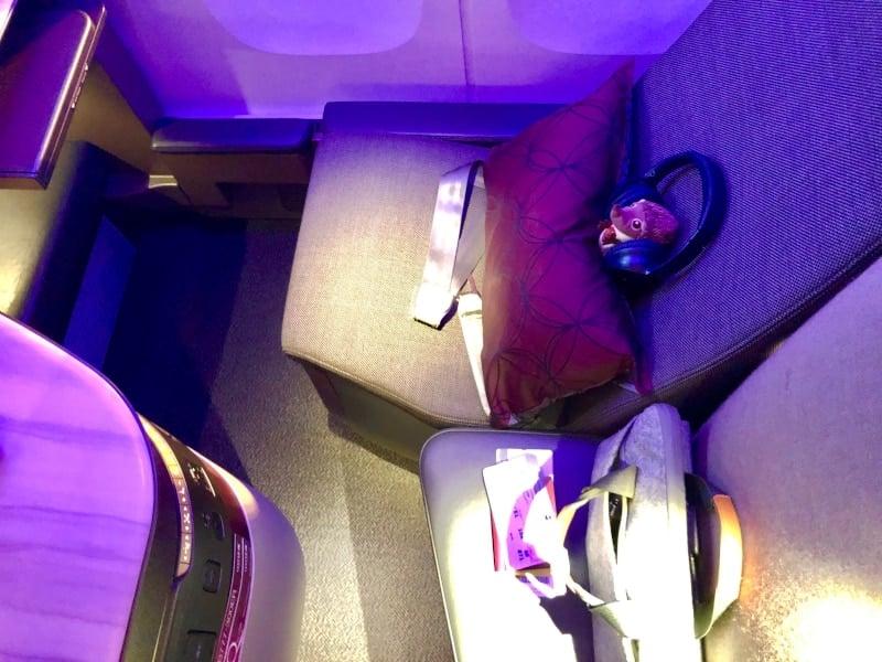 36 Mein Bett im Flugzeug auf der Rückreise