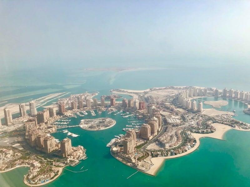 44 Blick auf Qatar