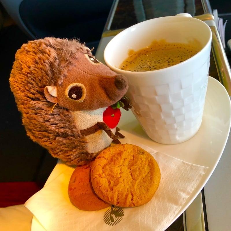45 Kaffee im Flugzeug