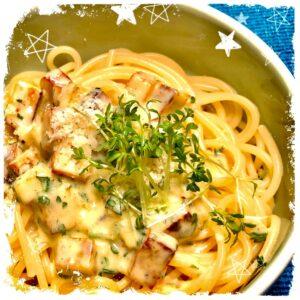 Spaghetti mit Räuchertofu Carbonara Rezept