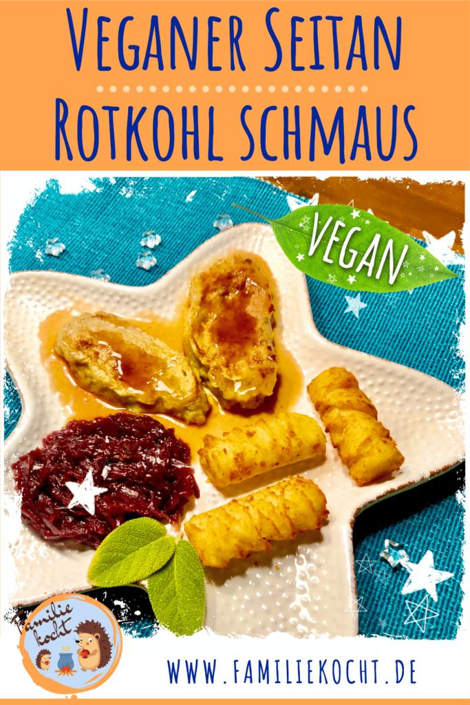 Veganer Seitan Rotkohl Schmaus Pin