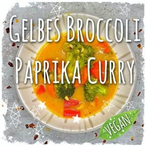 Gelbes Broccoli Paprika Curry vegan