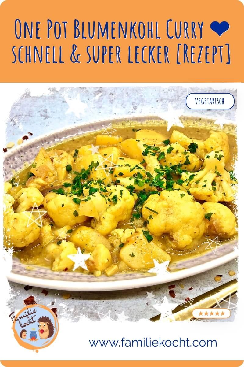 Blumenkohl Curry vegetarisch