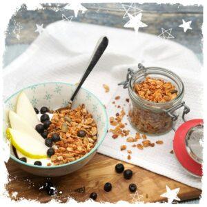 Granola ohne Zucker Knuspermuesli Rezept