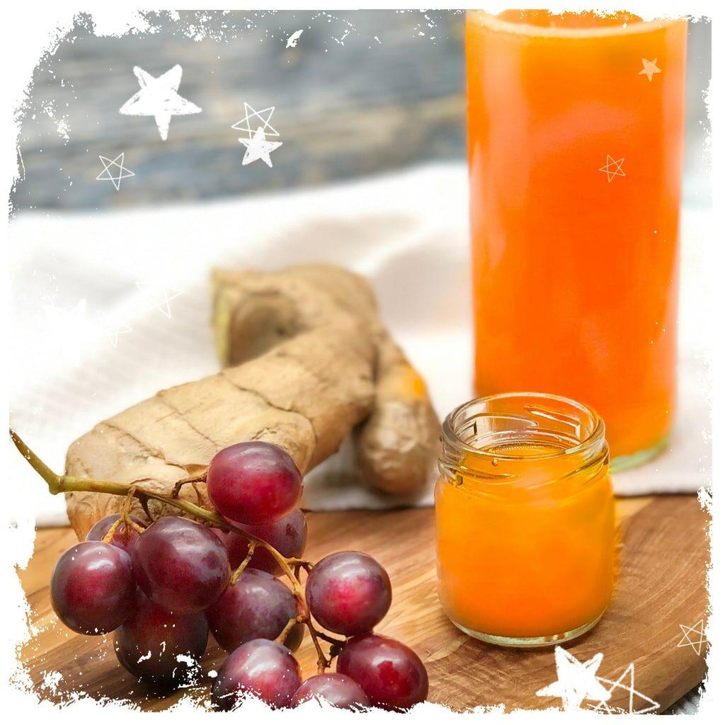 Grapefruit Ingwer Shot Rezept