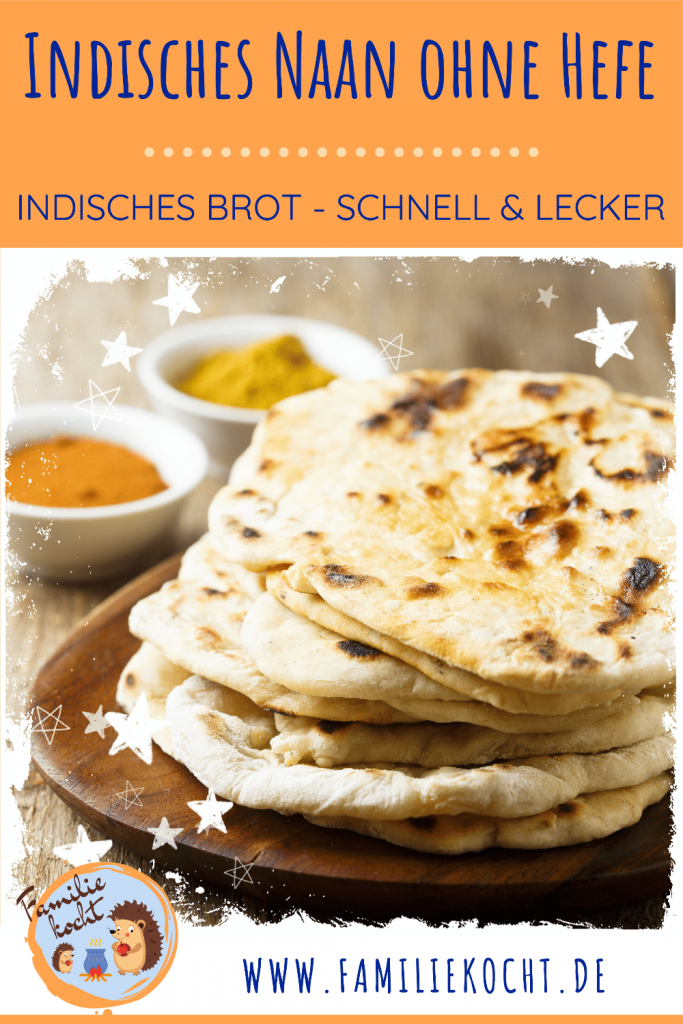 Indisches Naan Brot ohne Hefe Pin