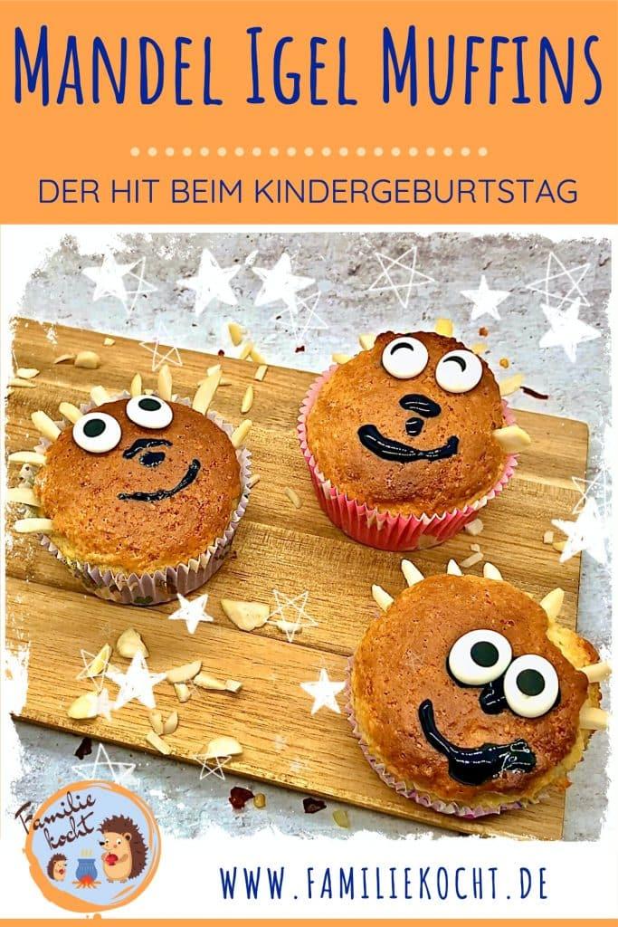 Mandel Igel Muffins Pin