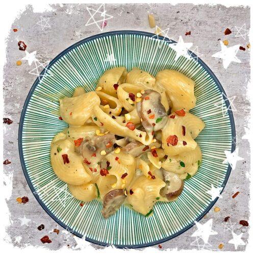 One Pot Pasta Champignon Gorgonzola Rezept