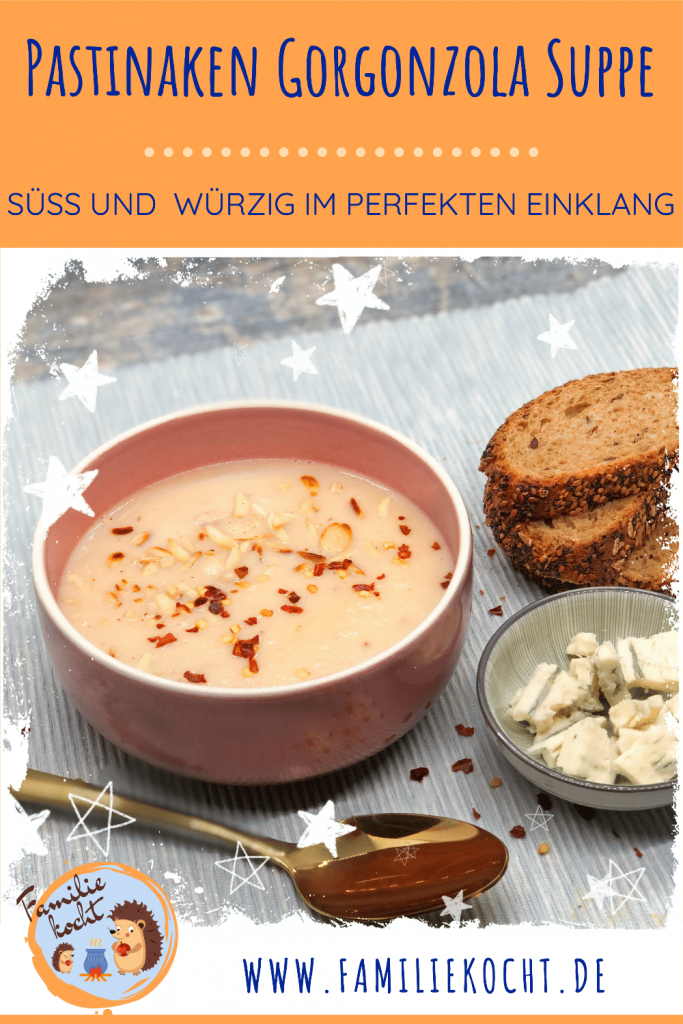 Pastinaken Gorgonzola Suppe Pin