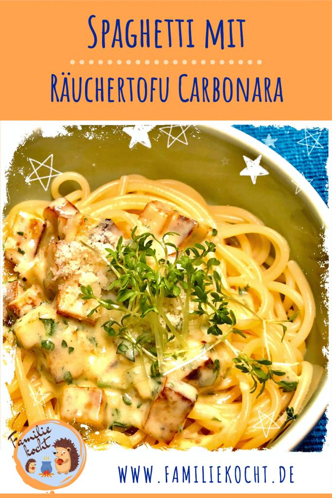 Spaghetti mit Räuchertofu Carbonara Pin