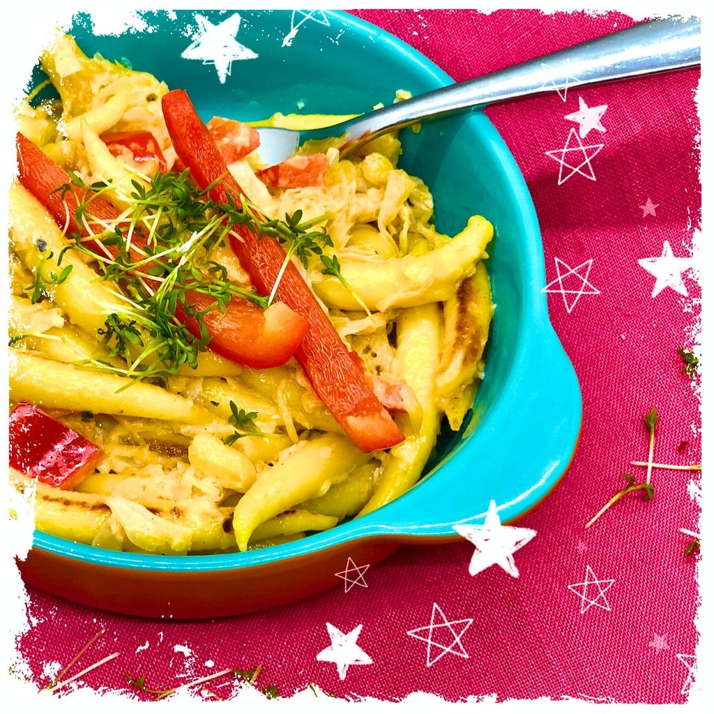 Gebratene Schupfnudeln mit Sauerkraut | schnell & vegan ♥