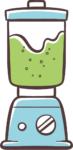 Spinat Kiwi Smoothie mit Gerstengras 1