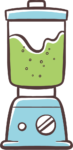 Im Mixer mixen grün