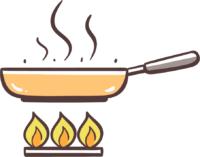 In Pfanne oder gusseisernem Bräter bei hoher Temperatur braten
