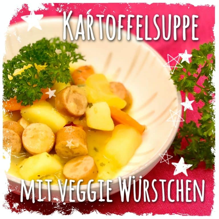 Kartoffelsuppe mit vegetarischen Würstchen