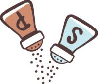 Mit Salz und Pfeffer oder anderen Gewürzen würzen