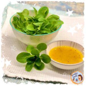 Feldsalat mit selbstgemachtem Honig Senf Dressing ♥ vegan