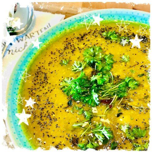 Ayurvedische Gemüsecremesuppe mit Mohn Rezept
