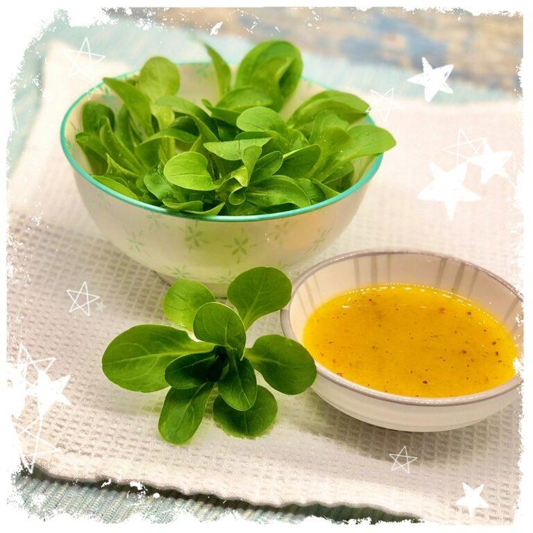 Feldsalat mit Honig Senf Dressing Vegan Rezept