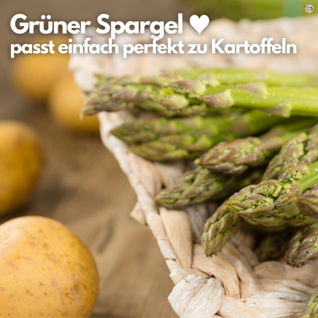 Veganer Grüner Spargel mit Kartoffeln