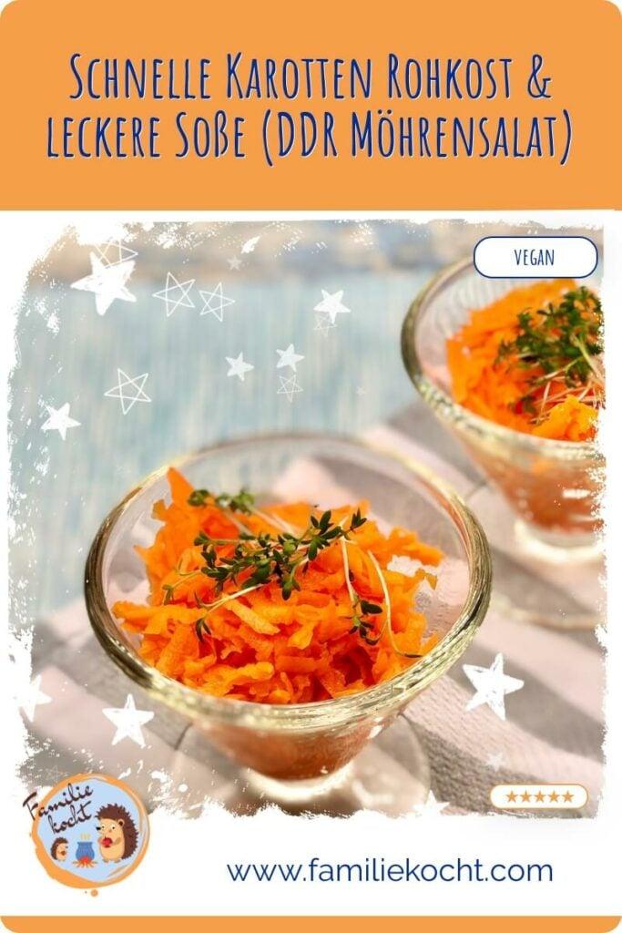 DDR Möhrensalat Karotten Rohkost