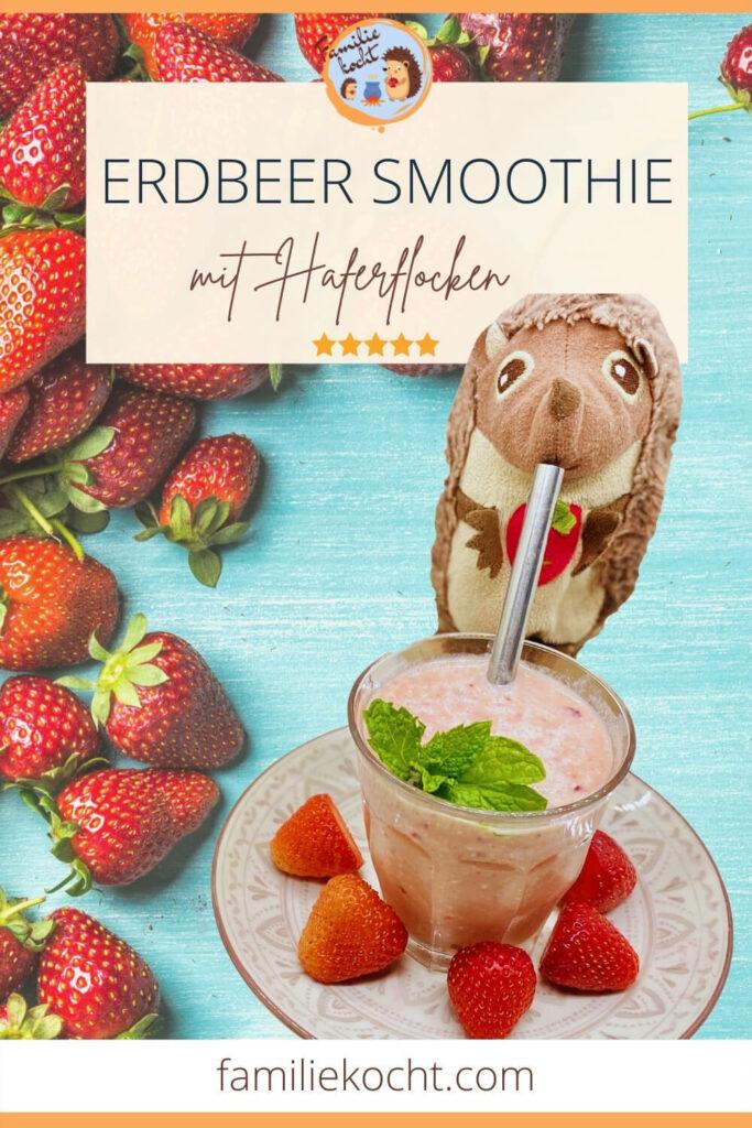 Erdbeer Smoothie mit Haferflocken