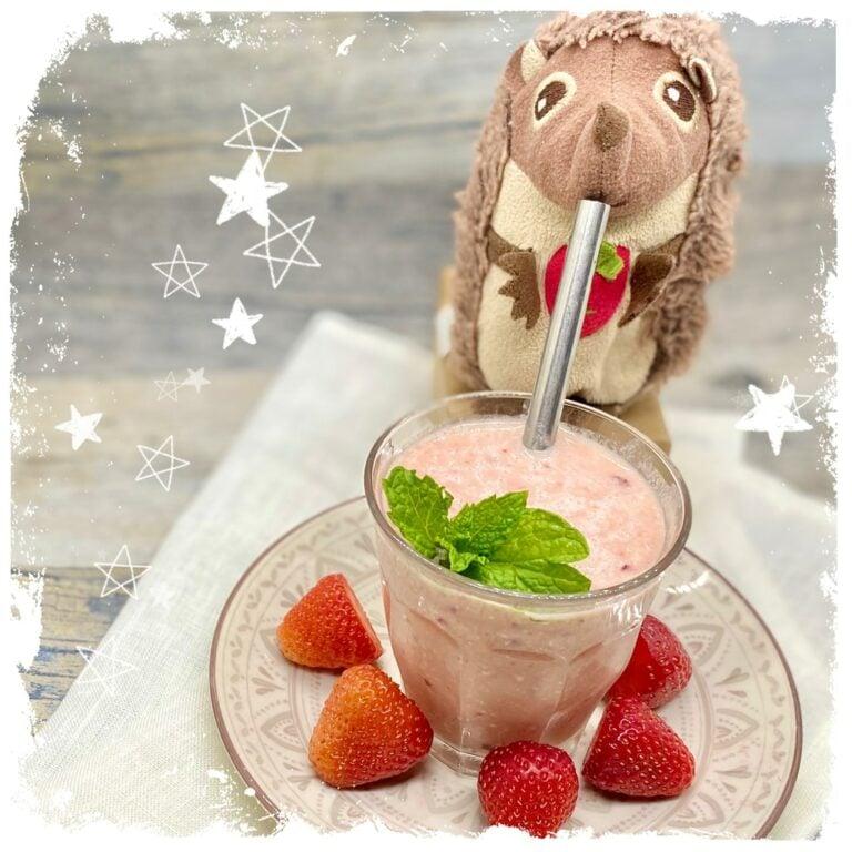 Erdbeer Smoothie mit Haferflocken Rezept