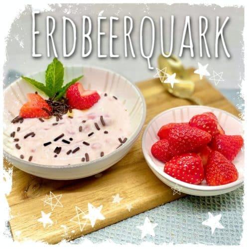Erdbeerquark mit Schokostreuseln