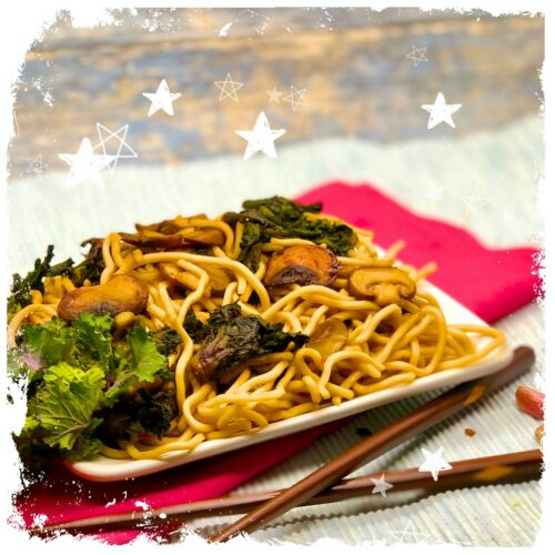 Ricetta Noodles Wok.Flower Sprouts One Pot Wok In Just 20 Minutes Healthy Delicious