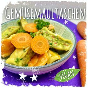 Vegane Gemüsemaultaschen mit Sojasahne