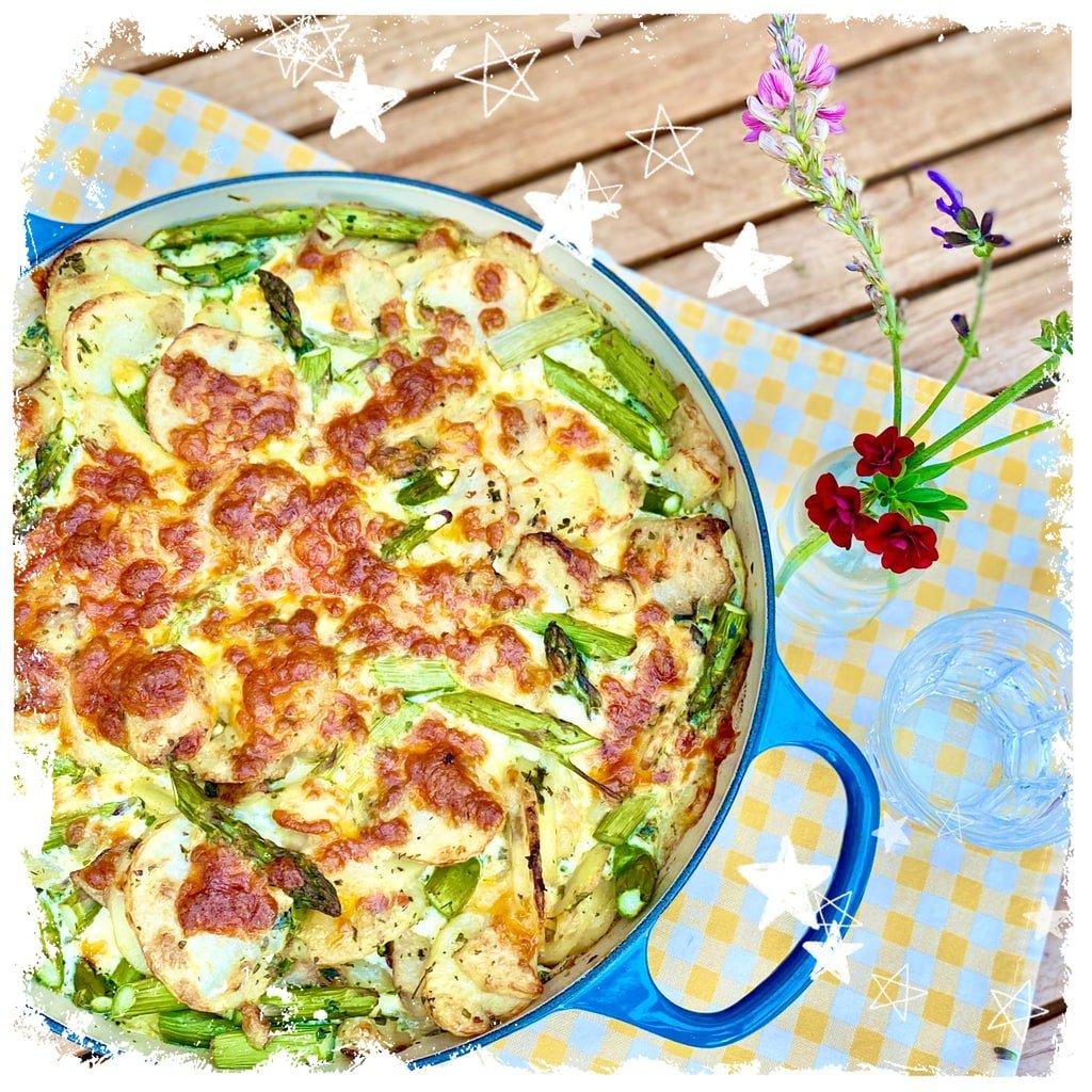 Grüner Spargel Kartoffel Auflauf Rezept