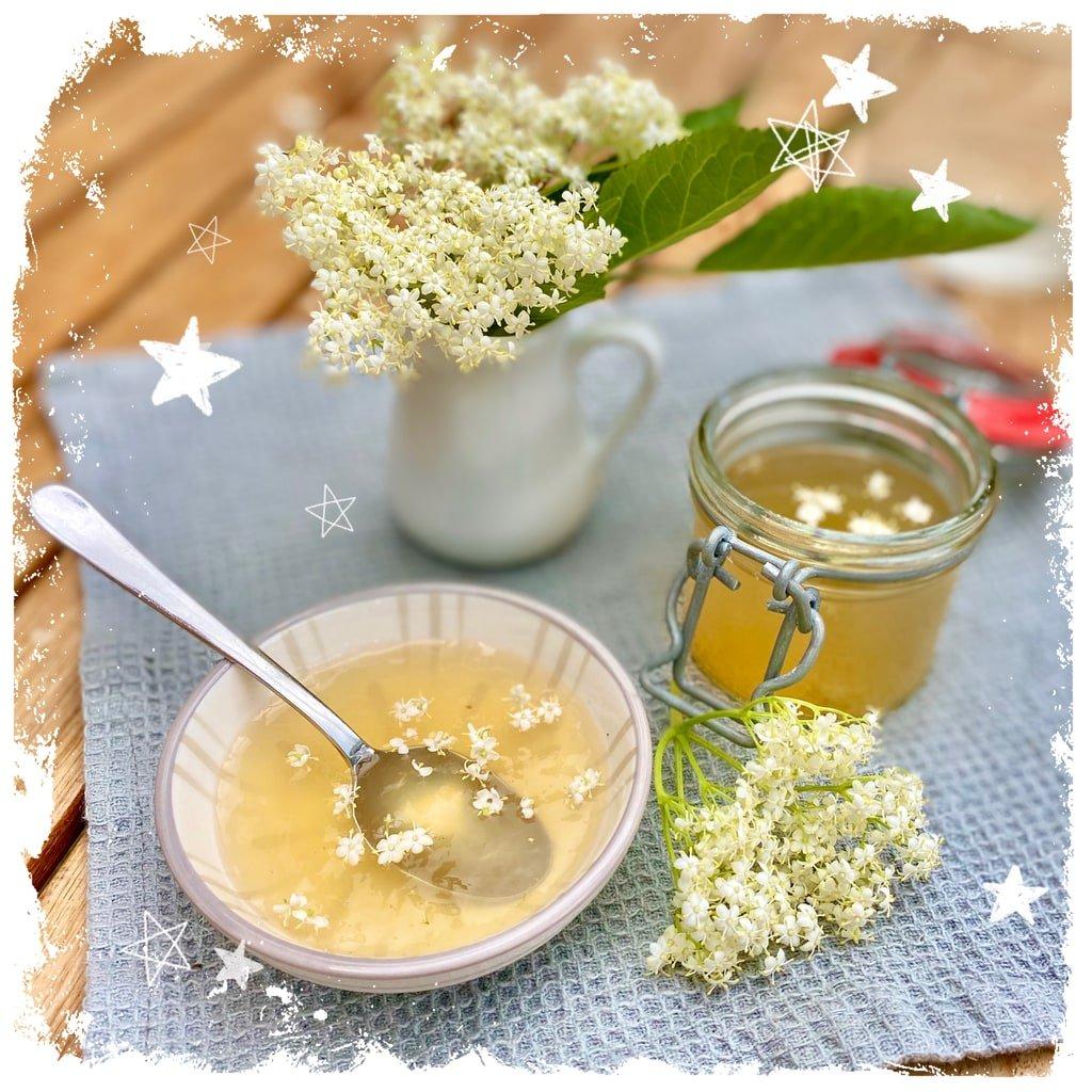 Holunderblüten Gelee mit Apfelsaft Rezept