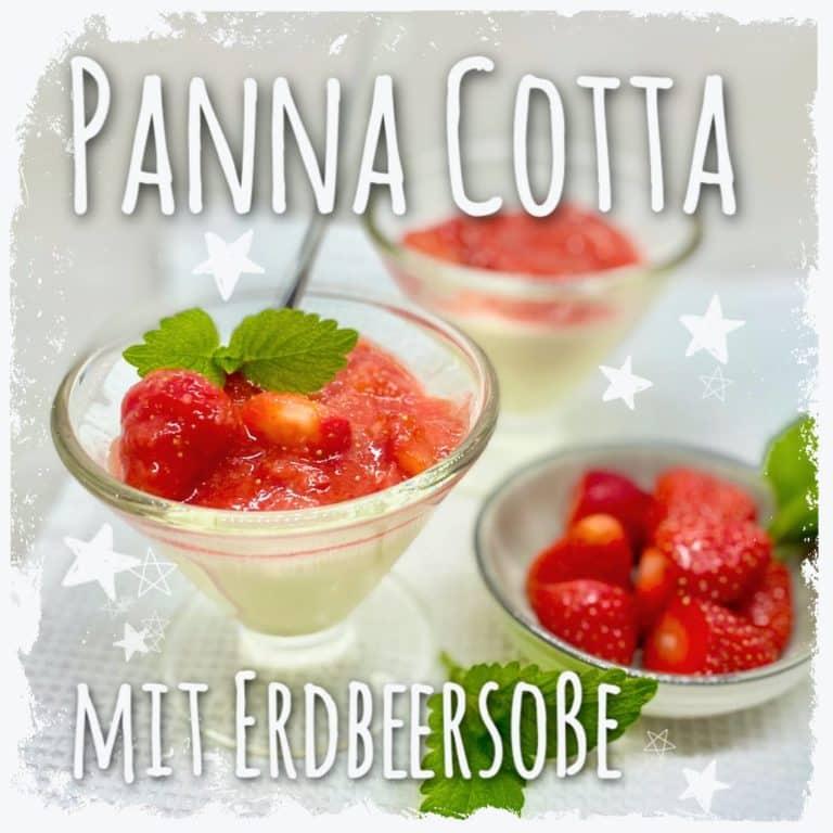 Panna Cotta mit Erdbeersoße