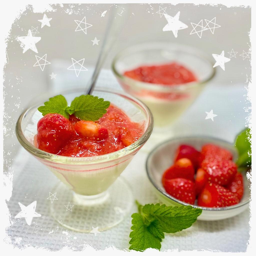 Panna Cotta mit Erdbeersoße Rezept